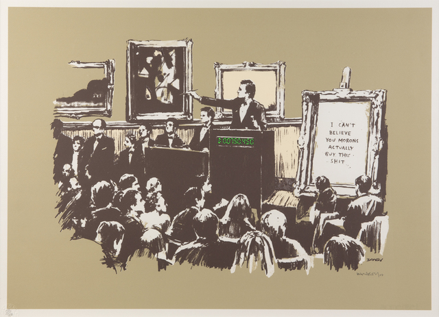 Banksy, 'Morons (Sepia)', 2007, Julien's Auctions