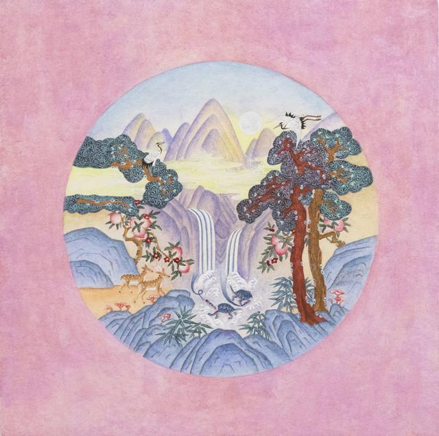 Kate Oh, 'Ten longevity (Purple)-Minhwa 민화 십장생', 2018, Kate Oh Gallery