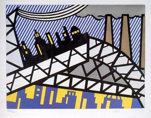 "Roy Lichtenstein, 'Illustration for ""Bayonne en Entrant dans NYC""', 1992, Vertu Fine Art"