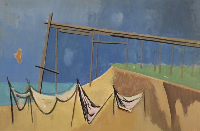 , 'Pier and Nets: a double-sided work,' , Debra Force Fine Art