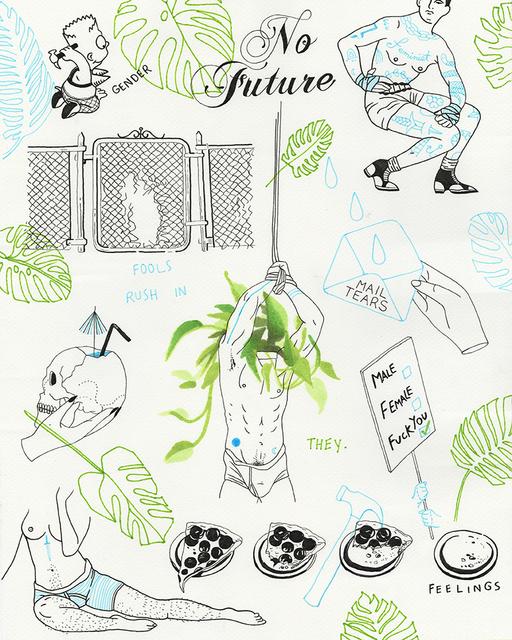 , 'no future,' 2018, Spoke Art