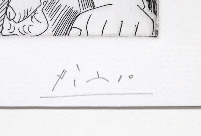 Pablo Picasso, 'Au Jardin: Odalisque en pantoufles au chapeau, avec des fleurs, et spectateur', 1968, Print, Etching, RoGallery