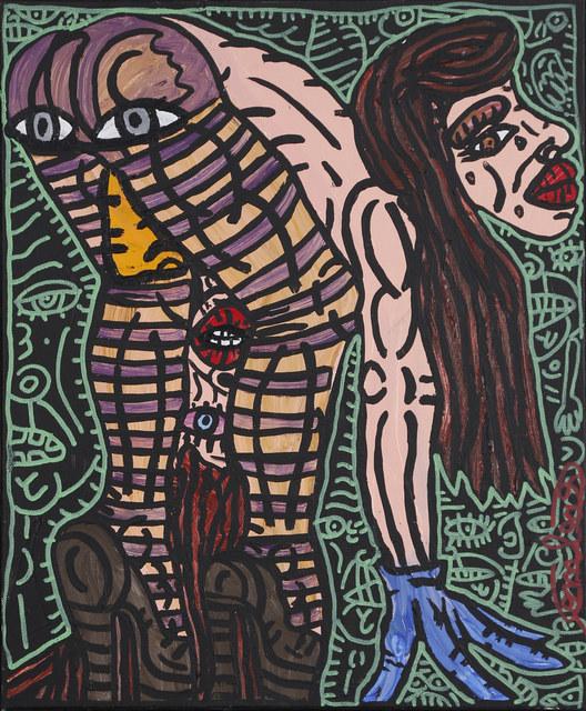 Robert Combas, 'Femme penchée', ca. 1995, Painting, Acrylique sur toile, David Pluskwa