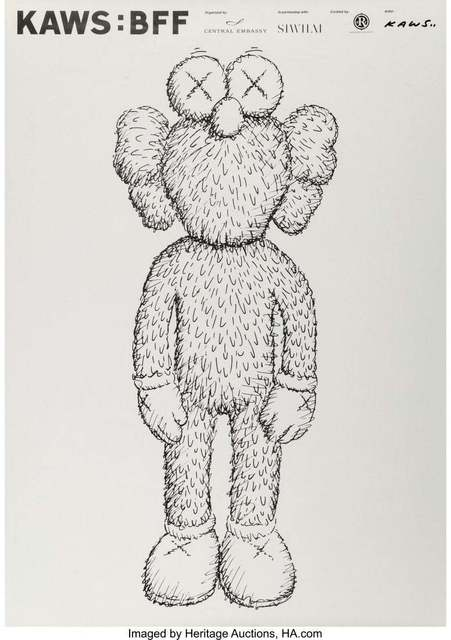 KAWS, 'BFF : 2016 EXHIBITION POSTER', 2016, Dope! Gallery
