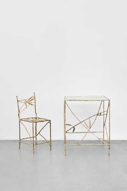 , 'Nouvelle chaise et table bambou,' 2014, Galerie Mitterrand