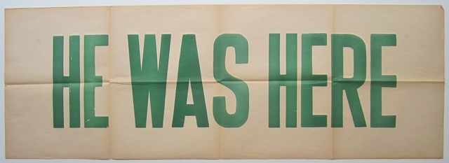 , 'He Was Here,' 1987, Casas Riegner