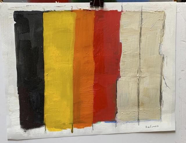 Manuel Salinas, 'untitled', 2020, Painting, Oil on paper, Galería Marita Segovia