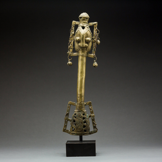 Unknown Yoruba, 'Yoruba Bronze Osugbo Staff', 19th Century AD to 20th Century AD, Barakat Gallery