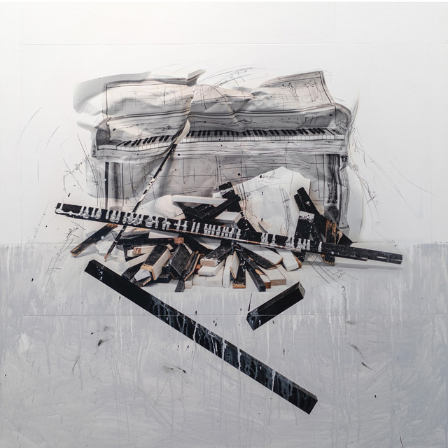 Andre Petterson, 'Concerto White', 2019, Painting, Mixed media on panel, Foster/White Gallery