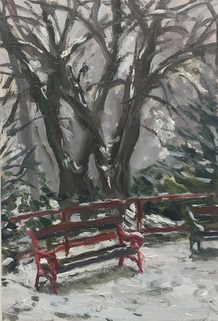 , 'The Bench in Winter,' , Tatha Gallery