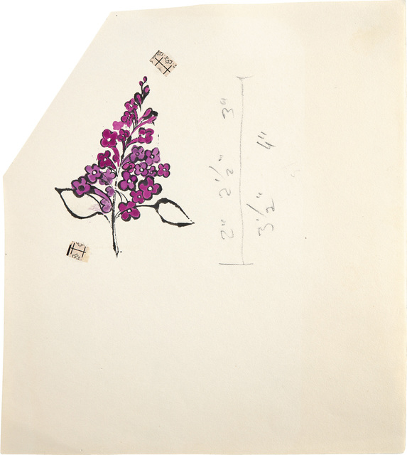 Andy Warhol, 'Still Life (Purple Bunch)', circa 1954, Phillips