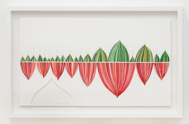 , 'Red and Green Stripe Panel: Beach Cleaning Fundraiser in CA & India,' 2018, Luis De Jesus Los Angeles