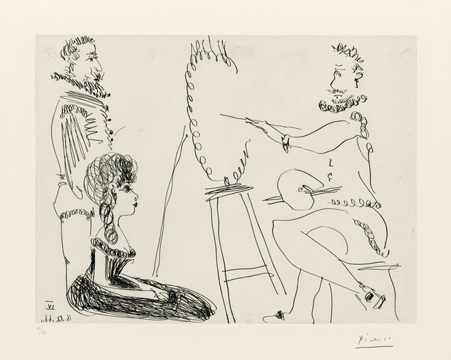 Pablo Picasso, 'Le Portraitiste', 1966, Print, Etching on wove paper, Christie's
