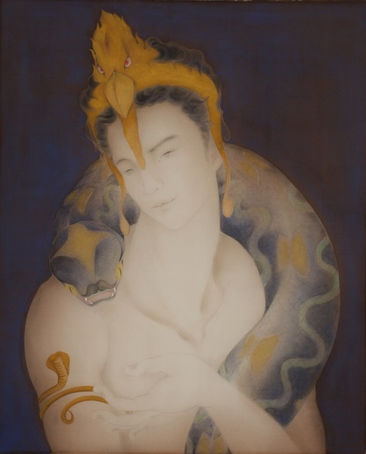 王怡然Wang Yi-Jan, '染無垢', 2010, Painting, Glue color painting, Asia University Museum of Modern Art