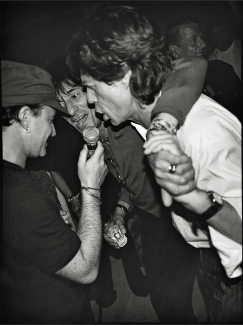 , 'Bono, Ron Wood and Mick Jagger, Mick's Birthday Party, Villa Dorane, Antibes, France, 1999,' 1999, Gagosian