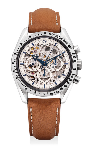 OMEGA, 'A fine and very rare limited edition platinum skeletonized chronograph wristwatch, numbered 5 of a limited edition of 21 pieces', 2009, Phillips