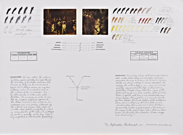 ", 'Analysis of ""The Nightwatch"" (Rembrandt),' 1976, Henrique Faria Fine Art"
