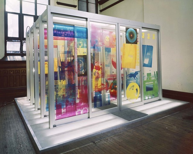 Robert Rauschenberg, 'Solstice', 1968, Silkscreen ink on motorized Plexiglas doors in metal frame mounted on platform with concealed electric lights and electronic components, Robert Rauschenberg Foundation