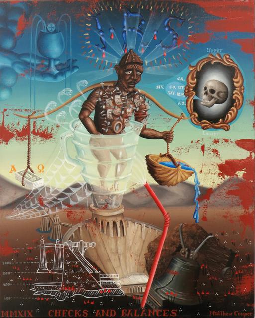 , 'CHECKS AND BALANCES,' 2019, La Luz de Jesus Gallery