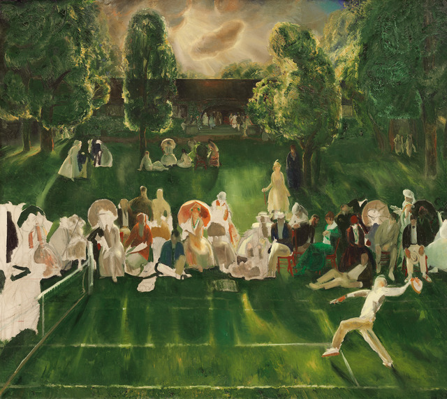 George Wesley Bellows, 'Tennis Tournament', 1920, National Gallery of Art, Washington, D.C.