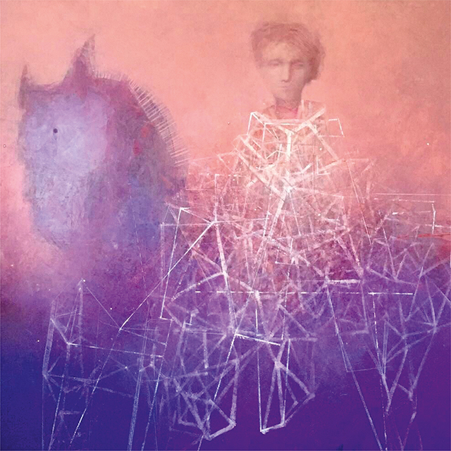 Alexey Terenin, 'Girl On A Horse', 2018, Painting, Canvas/Oil 150×150, Art Gallery Tolstoy