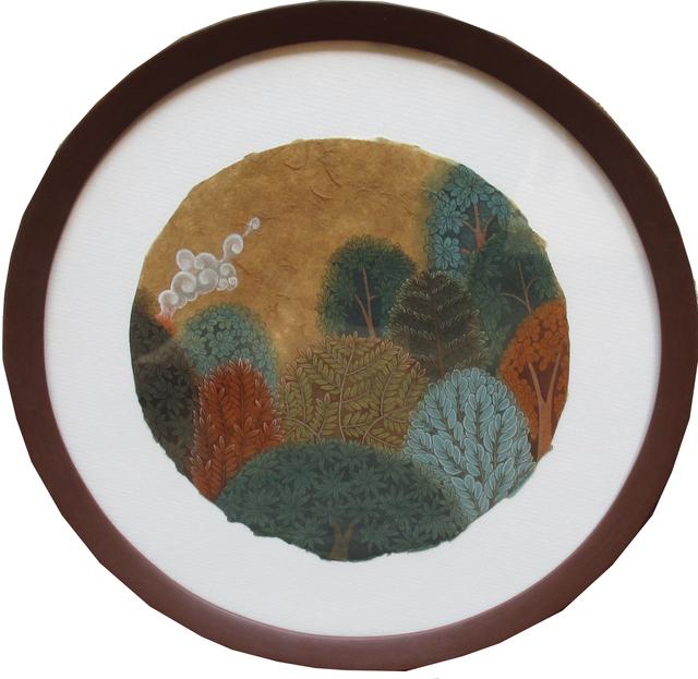 Ravi Kumar Chunchula, 'Indigenous Dream -6', 2018, Painting, Gouache On Rice Paper, Arushi Arts
