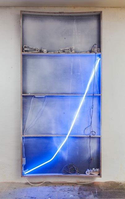 , 'White light, paint it white #1 (the fuzz),' 2014, Galerie Nathalie Obadia