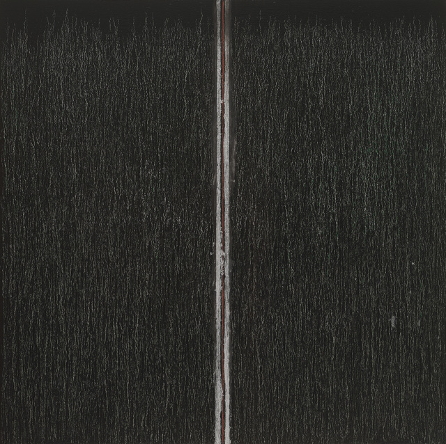 Pat Steir, 'Black with Red in the Middle', 2019, Locks Gallery