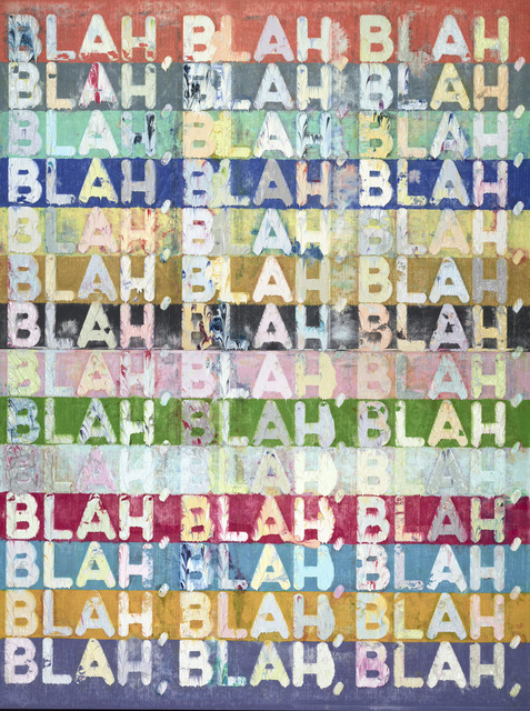 , 'Blah Blah Blah,' 2013, Peter Freeman, Inc.
