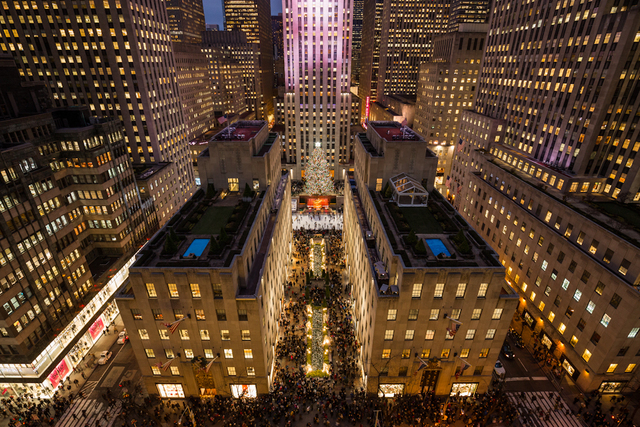 , 'Rockefeller Center on a busy shopping day a week before Christmas, as seen from the roof of Saks Fifth Avenue.,' 2014, Anastasia Photo