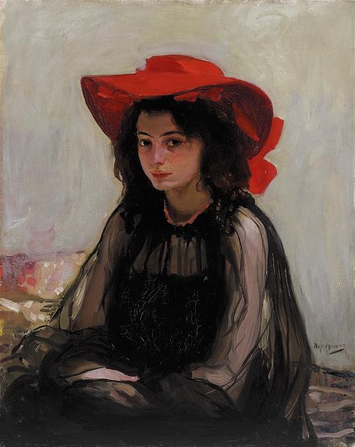 Oleksandr Murashko, 'Portrait of a Girl in a Red Hat', 1902-1903, Painting, Oil on canvas, National Art Museum of Ukraine