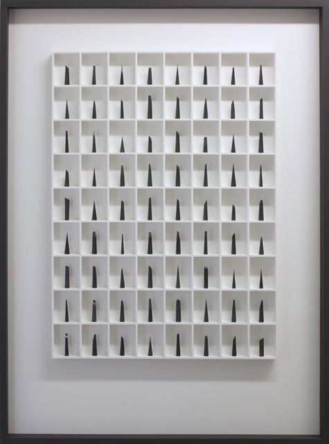 , '72 Pieces of Graphite (The Edge of Silence),' 2017, bo.lee gallery