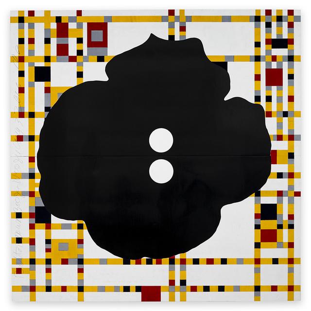 Donald Sultan, 'Button Down Boogie Woogie August 3 2016', 2016, Serge Sorokko Gallery