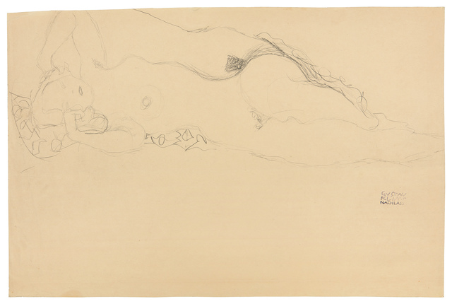 , 'Two female nudes reclining, one behind the other,' 1914-1915, W&K - Wienerroither & Kohlbacher
