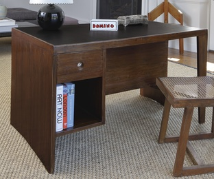 """Pigeonhole"" or ""Office Table"" Desk-Bookcase designed for the Secretariat, Chandigarh, India"