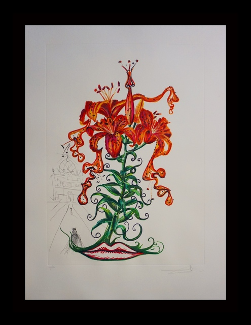 Salvador Dalí, 'Florals Tiger Lillies', 1972, Print, Etching, Fine Art Acquisitions Dali