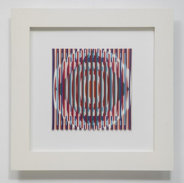 Yaacov Agam, 'orchestration visuelle cercles carrés', 2005, Galerie Denise René