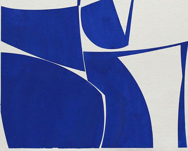 Joanne Freeman, 'Covers 24 Blue G Summer (Abstract painting)', 2016, Painting, Gouache on handmade Khadi paper, IdeelArt