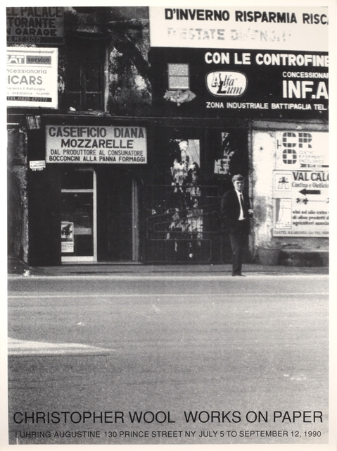 Christopher Wool, 'Works on Paper, July 5 to September 12, 1990', 1990, Benjamin Ogilvy Projects