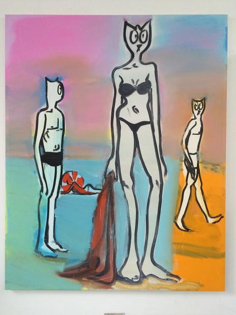 , 'Trois à la plage,' 2016, Galerie Laurent Godin
