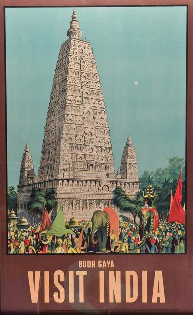 Vintage Travel Poster, 'Visit India, Budh Gaya', c. 1950's, Kapoor Galleries / Graham Shay 1857