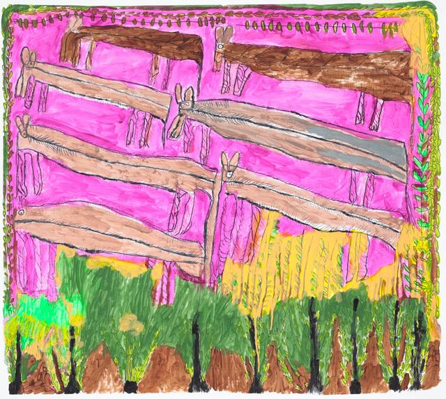 , 'Untitled (Pink Horses),' 2015, Creativity Explored