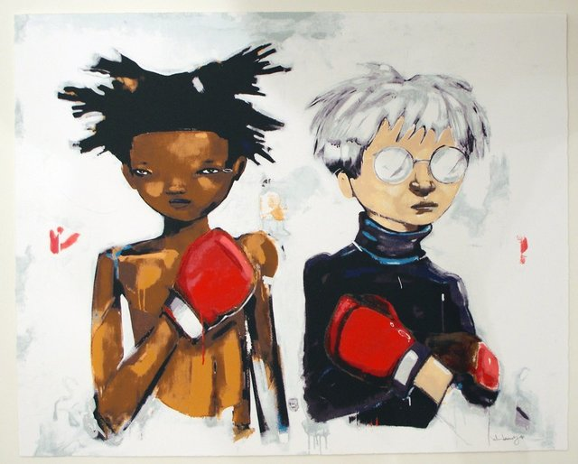Hebru Brantley, 'NO MORE PUBLIC BATTLES, JUST PRIVATE WARS ', 2017, Marcel Katz Art