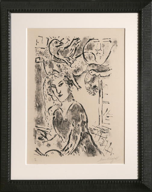 Marc Chagall, 'Self Portrait at the Window (M. 182)', 1957, RoGallery