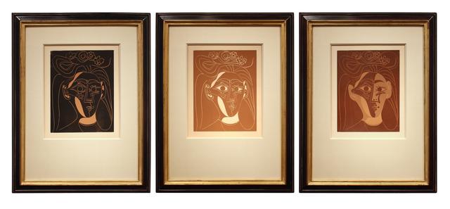 Pablo Picasso, 'Jacqueline au Chapeau à Fleurs I', 1962, Print, Linocut on paper, Spalding Nix Fine Art