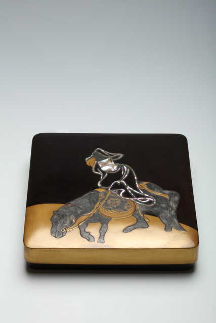 , 'Box for Writing Implements with Courtier on Horseback (T-4118),' 18th Century, Erik Thomsen
