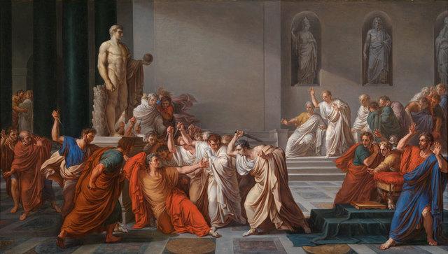 , 'Death of Julius Caesar ,' ca. 1825, American Federation of Arts