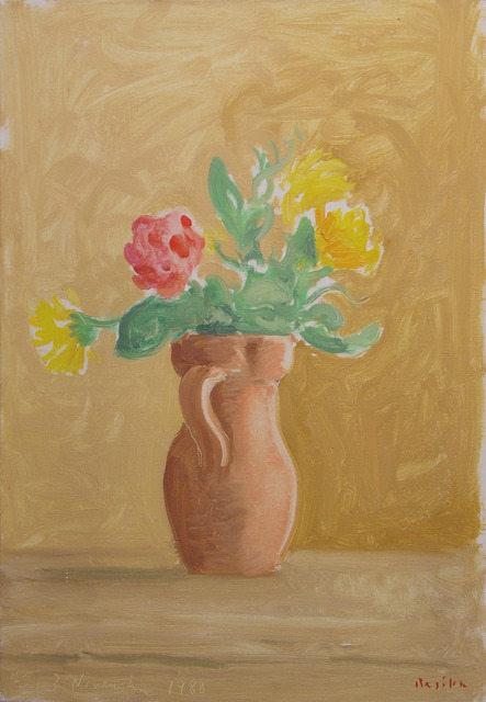 Paul Resika, 'Flowers in a Terracotta Vase', 1988, Bookstein Projects