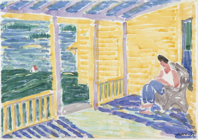 , 'Pam on Porch,' 1973, Dowling Walsh