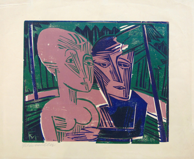 , 'People in the Forest (Couple in the Forest) | Menschen im Wald  (Paar im Wald),' 1918, Gilden's Art Gallery